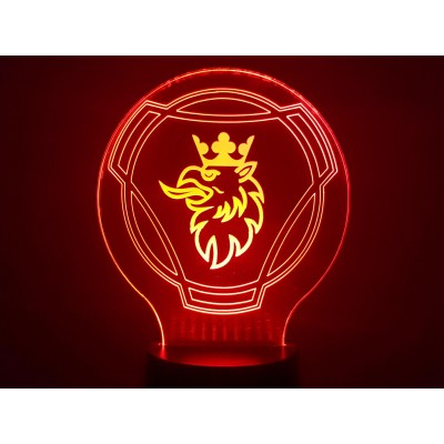 LAMPE 3D - LOGO  SCANIA -