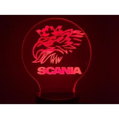 LAMPE 3D - LOGO  SCANIA...