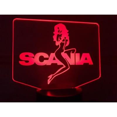 LAMPE 3D - LOGO  SCANIA +...