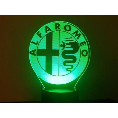 3D LAMP - LOGO ALFA ROMEO