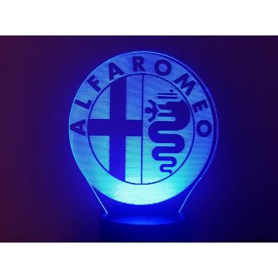 LAMPE 3D - LOGO ALFA ROMEO -