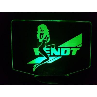 LAMPE 3D - LOGO FENDT + Girl -