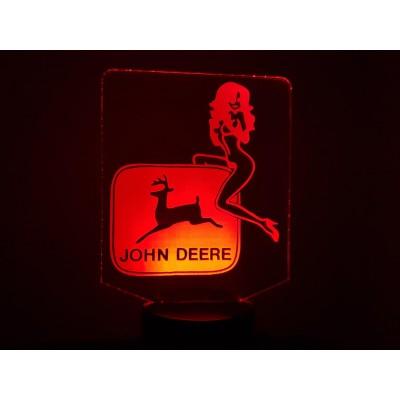 LAMPE 3D - LOGO JOHN DEERE...