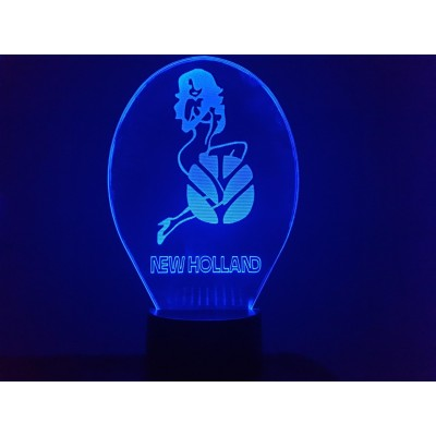 LAMPE 3D - LOGO NEW HOLLAND...