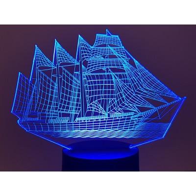 LAMPE 3D - VOILIER -