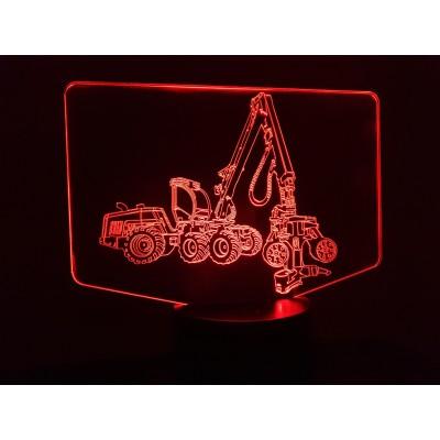 LAMPE 3D - ABATTEUSE -