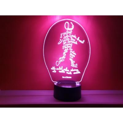 LAMPE 3D - POÊME -