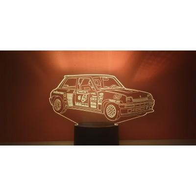 LAMPE 3D - RENAULT R5 TURBO...