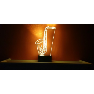 LAMPE 3D - SAXOPHONE -