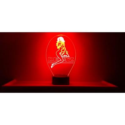 LAMPE 3D - LOGO DEUTZ + Girl -