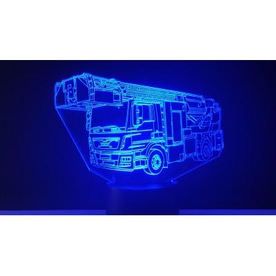LAMPE 3D - CAMION POMPIER -