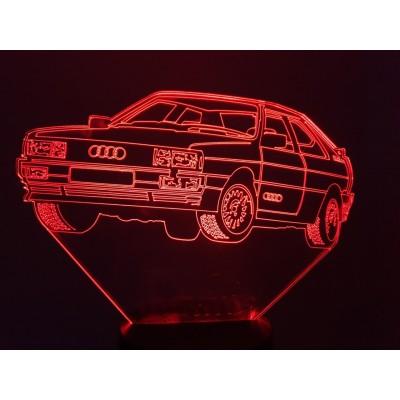 LAMPE 3D - AUDI QUATTRO -