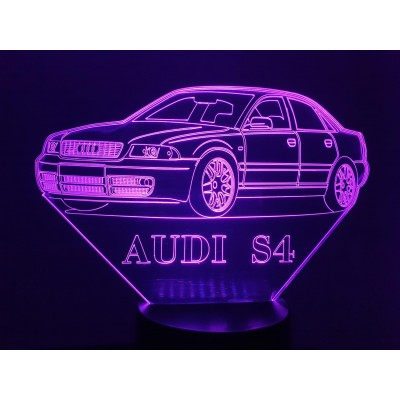 LAMPE 3D - AUDI S4 -