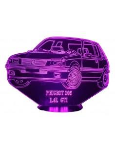LAMPE 3D - PEUGEOT 205 GTI...