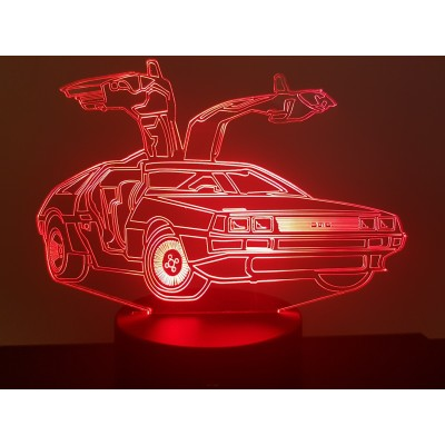 LAMPE 3D - DELOREAN -