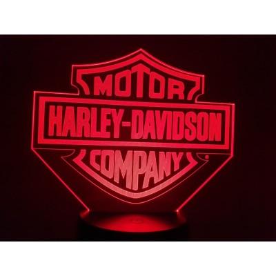 LAMPE 3D - LOGO HARLEY...