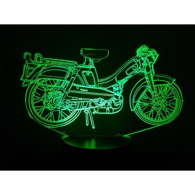 LAMPE 3D - MOTOBECANE  Bleue -