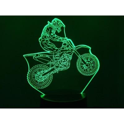 LAMPE 3D - MOTOCROSS -